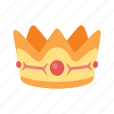 crown, gems, gold, royal, treasure icon
