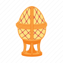 egg, faberge, gold, jewelry, treasure icon
