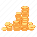 coins, gold, money, rich, treasure, wealth icon