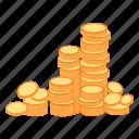 coins, money, treasure, gold, rich, wealth