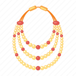jewel, jewelry, necklace, pearls, treasure icon
