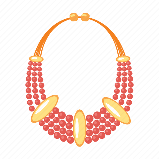 gems, jewel, jewelry, necklace, red, treasure icon