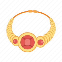 gems, gold, jewel, jewelry, necklace, treasure icon