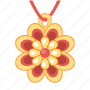 flower, jewel, jewelry, pendant, treasure icon