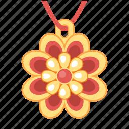 flower, jewel, jewelry, pendant, treasure icon