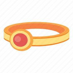 gem, gold, jewelry, ring, treasure icon
