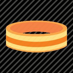 gold, jewelry, ring, striped, treasure icon