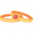 gem, gold, jewelry, rings, treasure icon