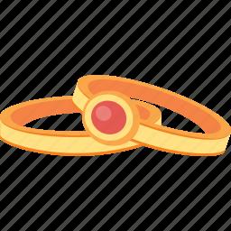 gem, gold, jewelry, rings, treasure icon