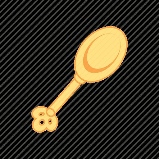 dinner, gold, spoon, treasure icon