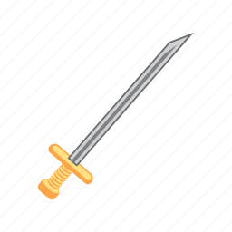 gold, sword, treasure, weapon icon