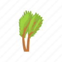 cartoon, environment, green, multi, nature, stemmed, tree icon