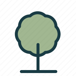 eco, enviroment, forest, friendly, green, minimal, tree icon