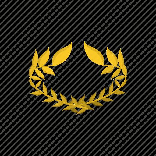 award, honor, laurel, success, victory, winner, wreath icon