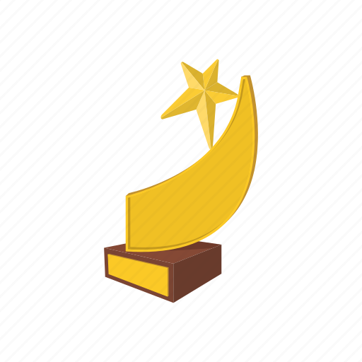 achievement, award, cartoon, comet, competition, star, success icon