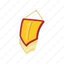 award, cartoon, first, flag, gold, golden, pennant