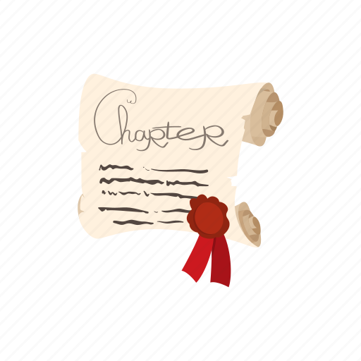 cartoon, charter, document, letter, paper, parchment, scroll icon