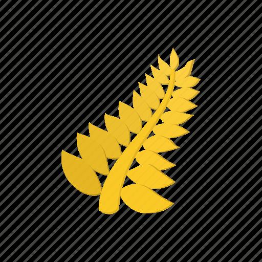 decoration, festival, gold, golden, leaf, palm, prize icon