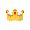 cartoon, crown, golden, king, queen, royal, ruby icon