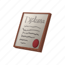 award, cartoon, diploma, document, frame, paper, template icon