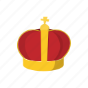 cartoon, crown, golden, king, prince, queen, royal icon