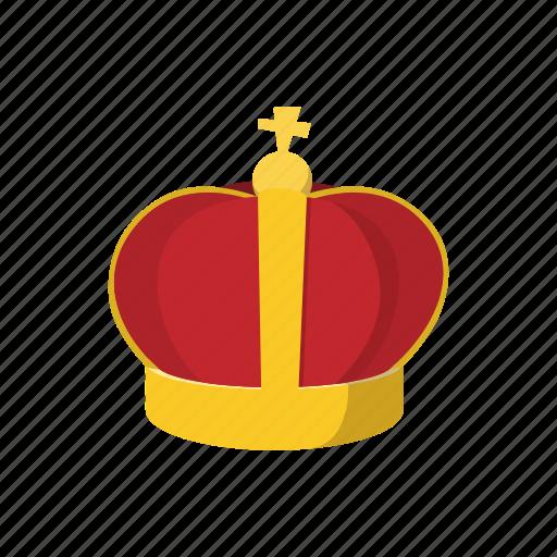 cartoon, crown, golden, king, prince, queen, royal icon
