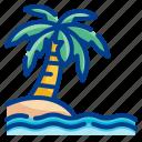 palm, beach, island, landscape, nature