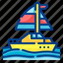 yacht, boat, transport, ship, sailing
