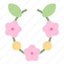 bali, flower, hawaii, necklace, tropical, wreath