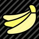 tropical, banana, summer, fruit