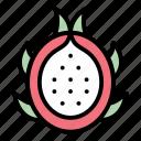 tropical, dragon, fruit, healthy