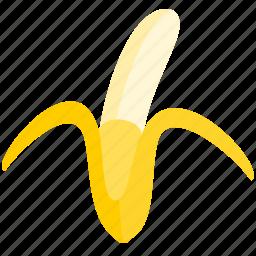 banana, food, fruit, healthy, tropical, yellow icon