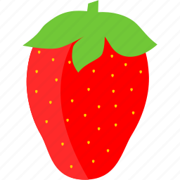 food, fruit, healthy, red, strawberry icon