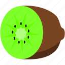 brown, food, fruit, green, healthy, kiwi icon