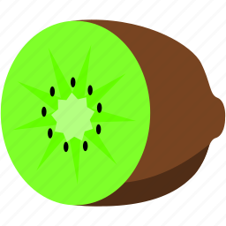 brown, food, fruit, green, healthy, kiwi icon