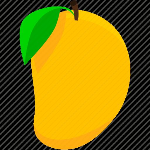 food, fruit, healthy, mango, tropical, yellow icon