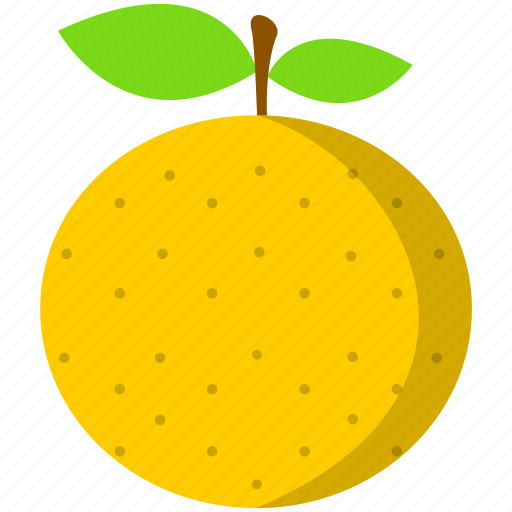 food, fruit, healthy, orange, tropical, yellow icon