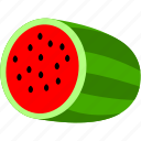 fruit, green, red, watermelon, food, healthy