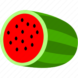 food, fruit, green, healthy, red, watermelon icon
