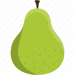 food, fruit, green, healthy, pear icon