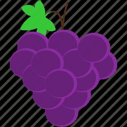 food, fruit, grape, healthy, purple, tropical icon