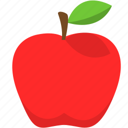 apple, food, fruit, healthy, red icon