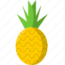 food, fruit, healthy, pineapple, tropical, yellow icon