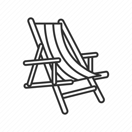 beach chair, chair, deck chair, summer icon