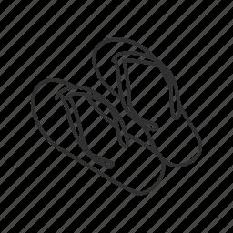 flipflop, footwear, sandal, slipper icon