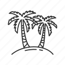 coconut tree, forest, tree, vacation icon