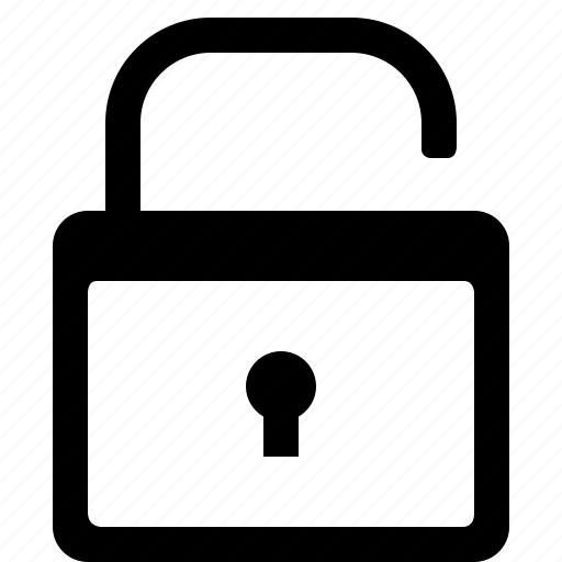 lock, open, opened, public, secure, security, unlocked icon