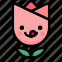 emoji, emotion, expression, face, feeling, naughty, tulip