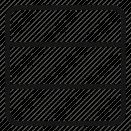 columns, grid, layout, three icon