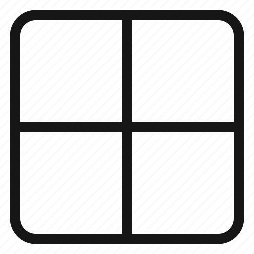 columns, grid, layout, two icon